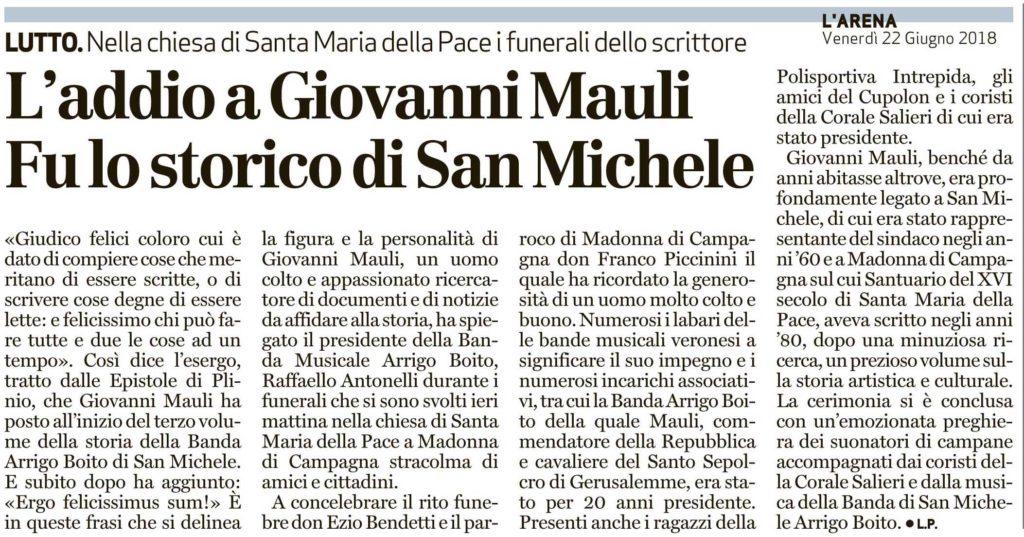 In Ricordo di Gianni Mauli.