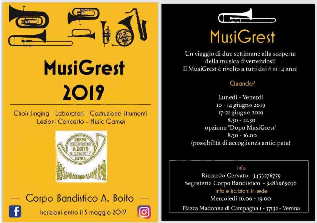 MusiGrest 2019 + Modulo iscrizione